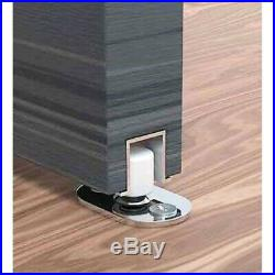 Hanging Sliding Wood Door & Closet Hardware Kit Rollers with Fixing Stoppers