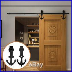 Hardware Kit for Wood Sliding Barn Door 4 FT Tracks&Rollers for Closet Cabinet