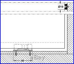 Hawa Junior 80/Z 940.80.001 Sliding Door Hardware, Without Upper Track