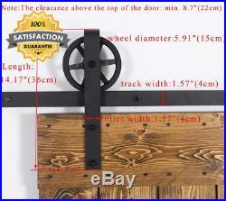 Heavy Duty Big Wheel 8FT-242cm Retro Sliding Wood Barn Door Hardware Closet