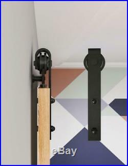 Heavy Duty Sliding Barn Door Hardware Track Kit Slide Smoothly Easy Install