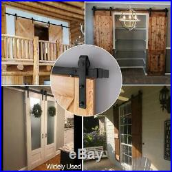 Heavy Duty Sliding Barn Door Hardware Track Kit, Ultra Hard Sturdy, Slide Smoothly