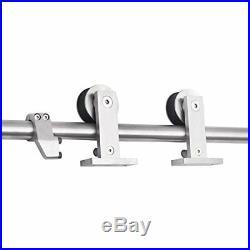 Heavy Duty Top Mount Stainless Steel Sliding Wood Door Hardware 8 Foot Rail