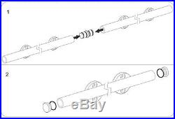 Heavy duty stainless steel double head sliding barn door hardware track kit set