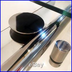 HomCom 48x76 Frameless Bath Sliding Shower Door Stainless Steel Hardware Glass