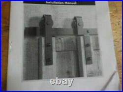 Homacer Black Rustic Single Track Bypass Sliding Barn Door Hardware Kit, for Two