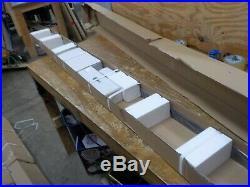 Homacer Sliding Barn Door Hardware Single Track Bypass Double Door Kit, 8FT Flat