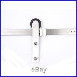Homcom Wood Sliding Door Track Kit Wardrobe System Hardware Closet Hanger 180Cm