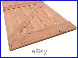 Interior Sliding Hardware Track Set With Wood Knotty Primed Alder Barn Door