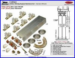 Johnson Hardware 138F Series Sliding Bypass Door Hardware 96 Inch 4 Door Syst