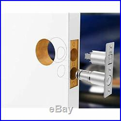 Keyed Pocket Sliding Door Lock CL4ENTR Matte Silver Hardware & Locks Tools Home