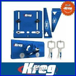 Kreg Cabinet Hardware Kit Door Handle Concealed Hinge Drawer Slide + 2 Clamps