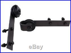 LOT36.6 FT Dark Coffee Steel Sliding Wood Door Hardware Black Antique Wholesale