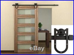 LOT 36 FT Dark Coffee Horseshoe Barn Wood Sliding Door Hardware Set Wholesale