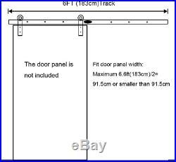 LWZH 6FT183cm Sliding Wood Barn Door Hardware Antique Track Kit Closet Slide for