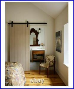 Leatherneck Hardware 60 Straight Style Sliding Barn Door Track &Fitting Set