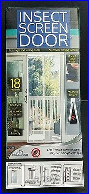 Magnetic Magic Mesh Hands-Free Screen Door with Magnets Home Campers Pets Bugs Out