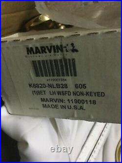 Marvin Old-Style Polished Brass Sliding Door Handles Lh Non-Keyed with Thumb Turn