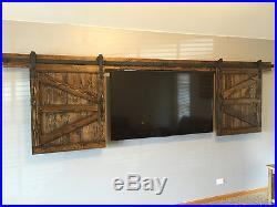 Mini Modern Furniture Wood Sliding barn door shutter hardware roller track kit