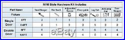 Mini Sliding Barn Door Hardware Wood Door Closet Cabinet Track Kit Bent JStyle