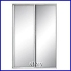 Mirror Sliding Door 60 in. X 81 in. 2-Panel Aluminum Interior Hardware Included