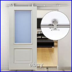 NEW 35-45mm Wooden Sliding Door Kit Stainless Steel Smooth Operation Hardware