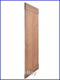 Natural Primed Knotty Alder Barn Door Wood with 6FT Sliding Hardware Track Set