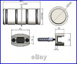 New Sliding Barn Door Hardware Stainless Steel Brush Heavy Duty High Quality