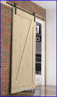 Northbeam Unfinished Farm Style Sliding Door Kit With Mounting Hardware