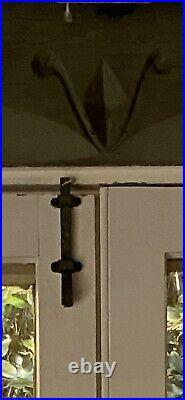 Original Spanish Revival Slide Bolt Decorative Hand Hewn Hardware