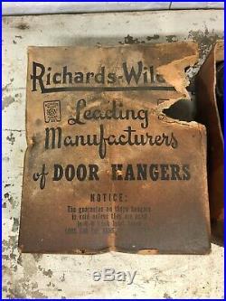 PAIR OF NOS 1900s Wilcox Sliding Barn Door Hanging Hardware Garage Shop Barn