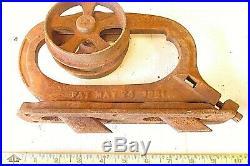 Pair Antique Cast Iron Pocket Sliding Door Hanger Bracket Hardware Roller 1881