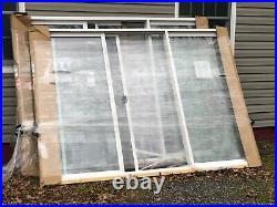 Patio Door Full Lite 3 Panel Sliding Glass Door 107.5 x 79.5 White Vinyl Frm