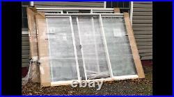 Patio Doors Full Lite 3 Panel Sliding Glass Doors 107.5 x 79.5 White Vinyl Frm