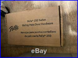 Pella 250 Series Sliding Patio Door Hardware Tray Handle Keys Complete New S3