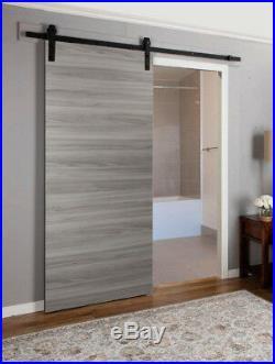 Planum 0010 Interior Barn Closet Wood Grey Door Ginger Ash Track 6.6FT Hardware