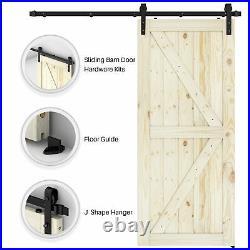 Pre-Drilled 36 x 84 Sliding Barn Door K-Frame With 6.6ft Barn Door Hardware Kit