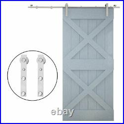QINAIXQM Sliding Barn Door Hardware Kit Stainless Steel Roller for Wood Door