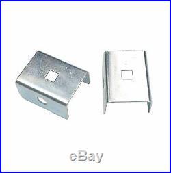 Raw Material Box Track Double Sliding Barn Door Hardware, Wall Mount Black Kit