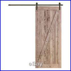 Reclaimed Wood Panel Barn Door Sliding Interior Door Slab with Hardware Kit