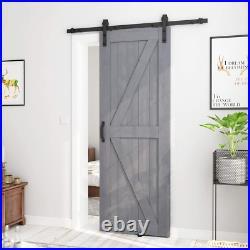 SMARTSTANDARD 30in x 84in Sliding Barn Door with 5ft Barn Door Hardware Kit Ha