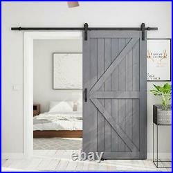 SMARTSTANDARD 42in x 84in Sliding Barn Door with 7ft Barn Door Hardware Kit &
