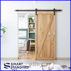 SMARTSTANDARD 6.6ft Heavy Duty Sturdy Sliding Barn Door Hardware Kit -Smoothly a