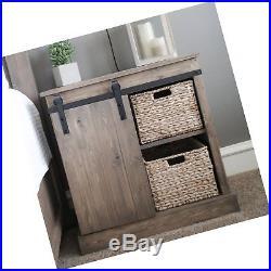 SMARTSTANDARD Mini Cabinet 5ft Sliding Barn Door Hardware for Cabinet TV Stan