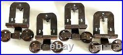 Set of 4 Vintage Sliding Barn Door Hardware Antique Barn Rollers Hangers