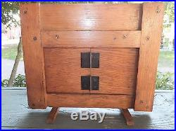 Sharon Hardware Co. Salesman Sample Sliding Garage Door Hardware No. 9 Oak Door