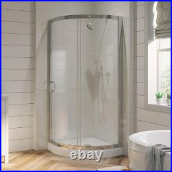 Shower Kit 32 in. L x 32 in. W x 76 in. H Corner with Reversible Sliding Door
