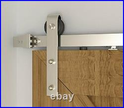 Sliding Barn Brushed Door Hardware with Two Side Soft Closing Mechanism 6.6 Ft