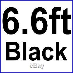 Sliding Barn Door Hardware 6.6 Feet Kit J Shape Hanger High Quality Steel Black