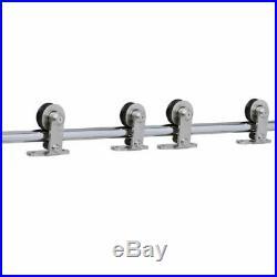 Sliding Barn Door Hardware Kit Cabinet Closet Track Kit Rolling T-Shaped 4-9.6FT